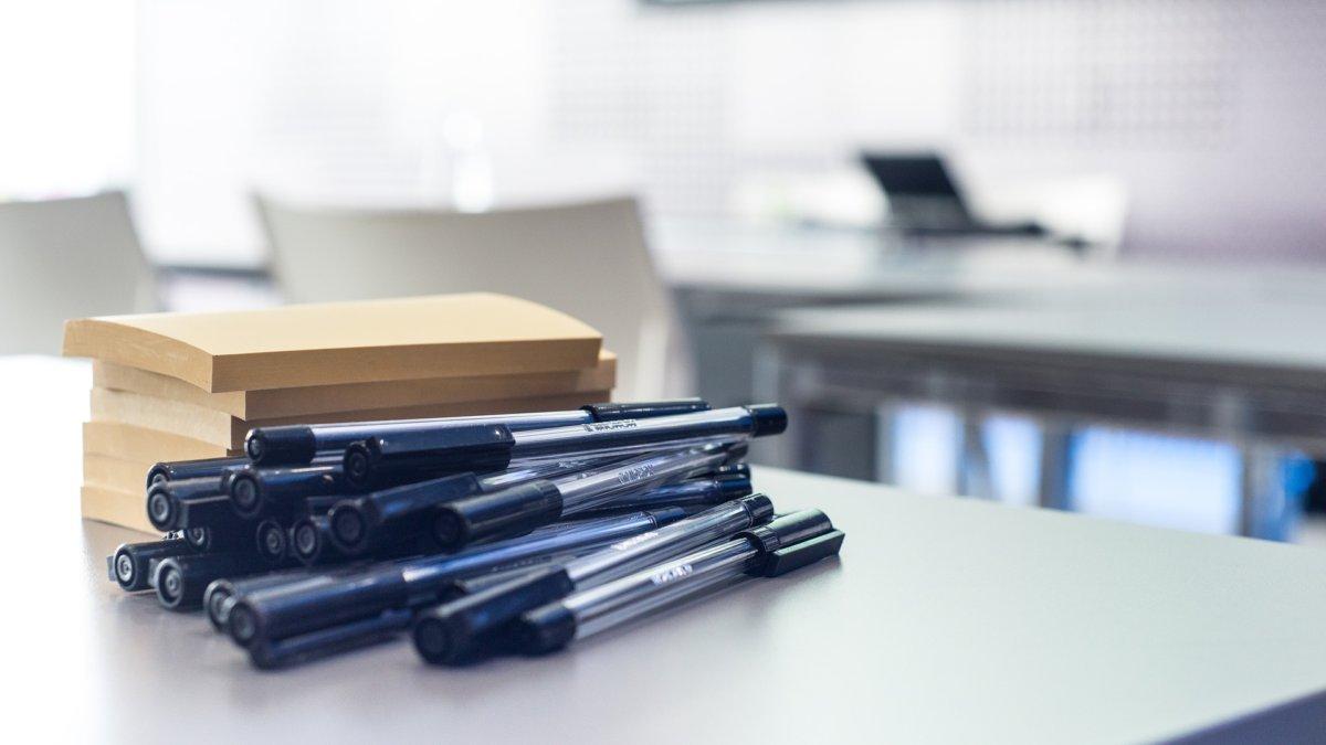 Pen on a desk